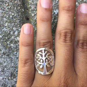 Peruvian Silver Tree Ring
